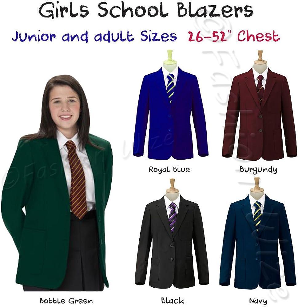 Westwood Girls//Boys School Blazer Jacket Uniform Black Royal Blue Navy Bottle Green Burgundy//Maroon Chest Sizes 26-52