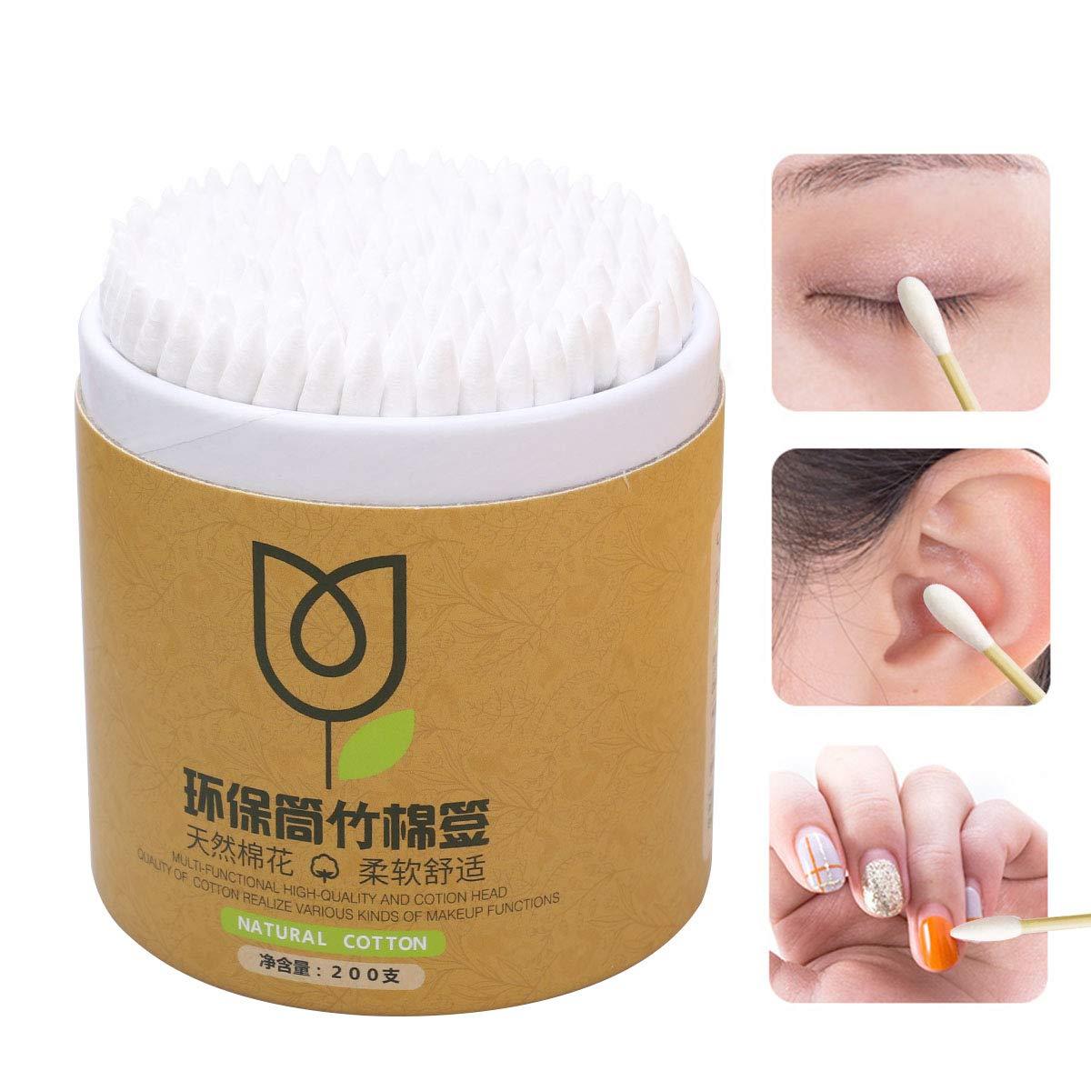 HEALIFTY Coton-tige jetable maquillage femmes bourgeons de coton pointe oreille outil propre 400pcs