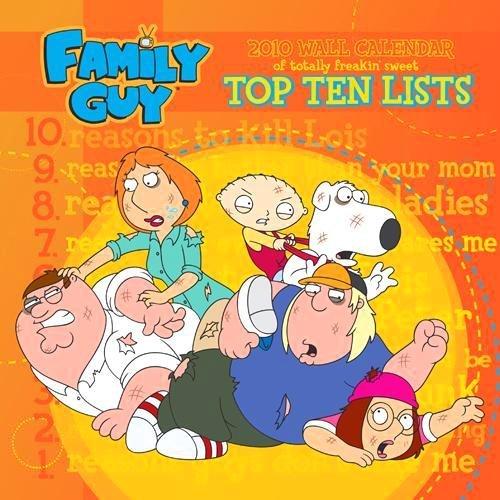 Family Guy 2010 Wall Calendar Publisher: Aquarius