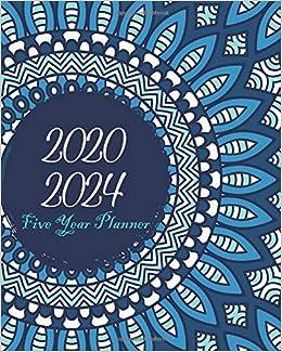 2020-2024 Five Year Planner: Bluesky Mandala, Monthly ...