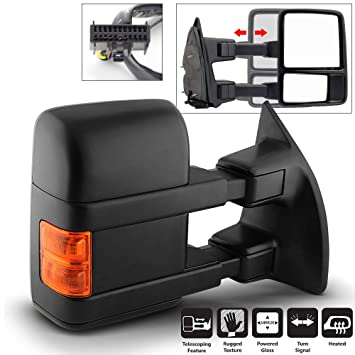 New Front Right Side Powered Towing Mirror For Ford F-250 Super Duty 08-16