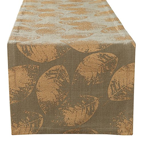 - Split P Gold Leaf Table Runner