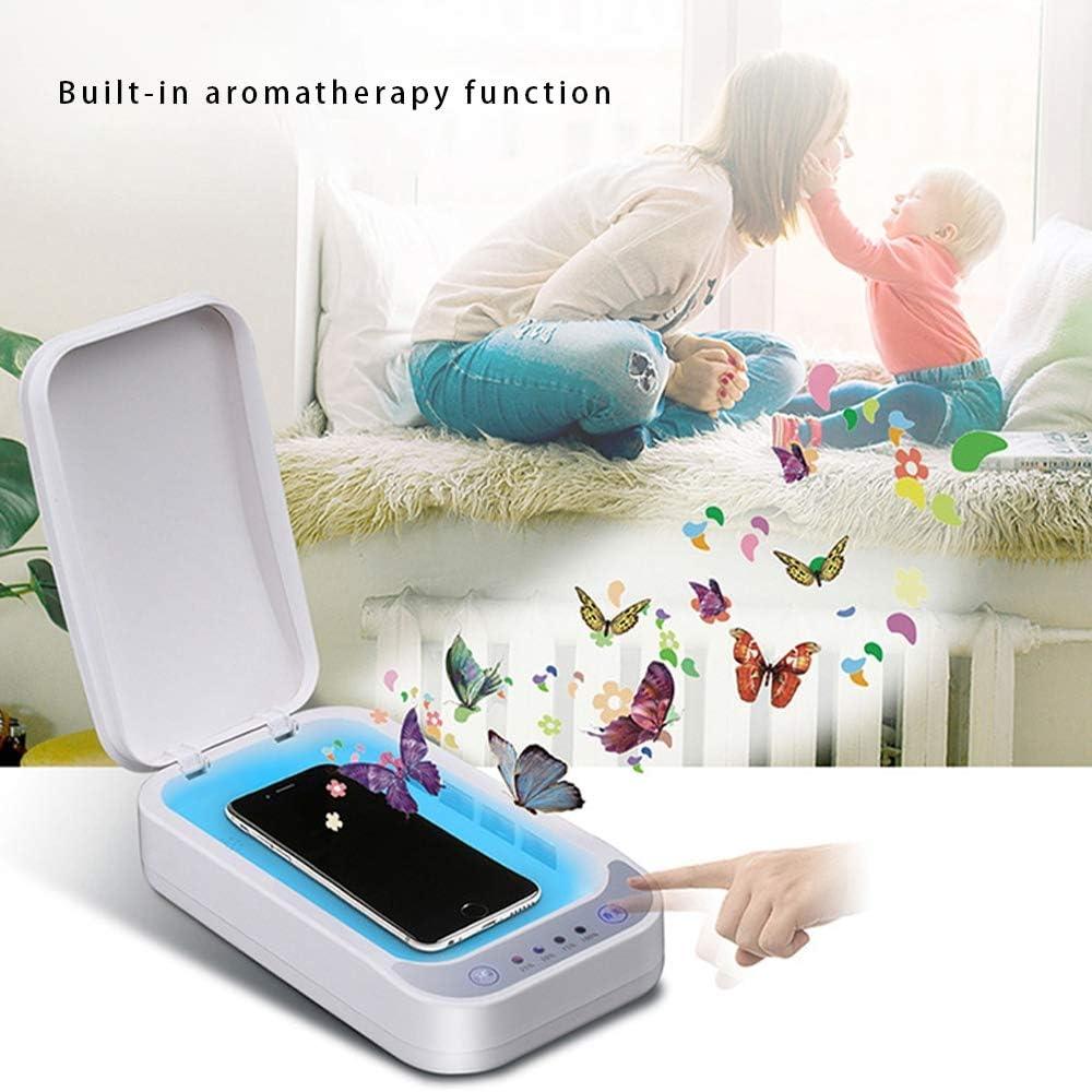 Tragbare Sterilisationsbox Mit Aromafunktion Zur Desinfektion Von Handys XIAOGAO Ultravioletter Handy-Sterilisator Masken Und Schmuck Kabelloser Sterilisator F/ür Smartphones