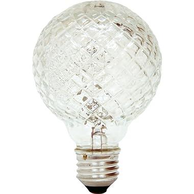 GE Lighting 16774 40-Watt Halogen Faceted G25 Vanity Light Bulb, 1-Pack