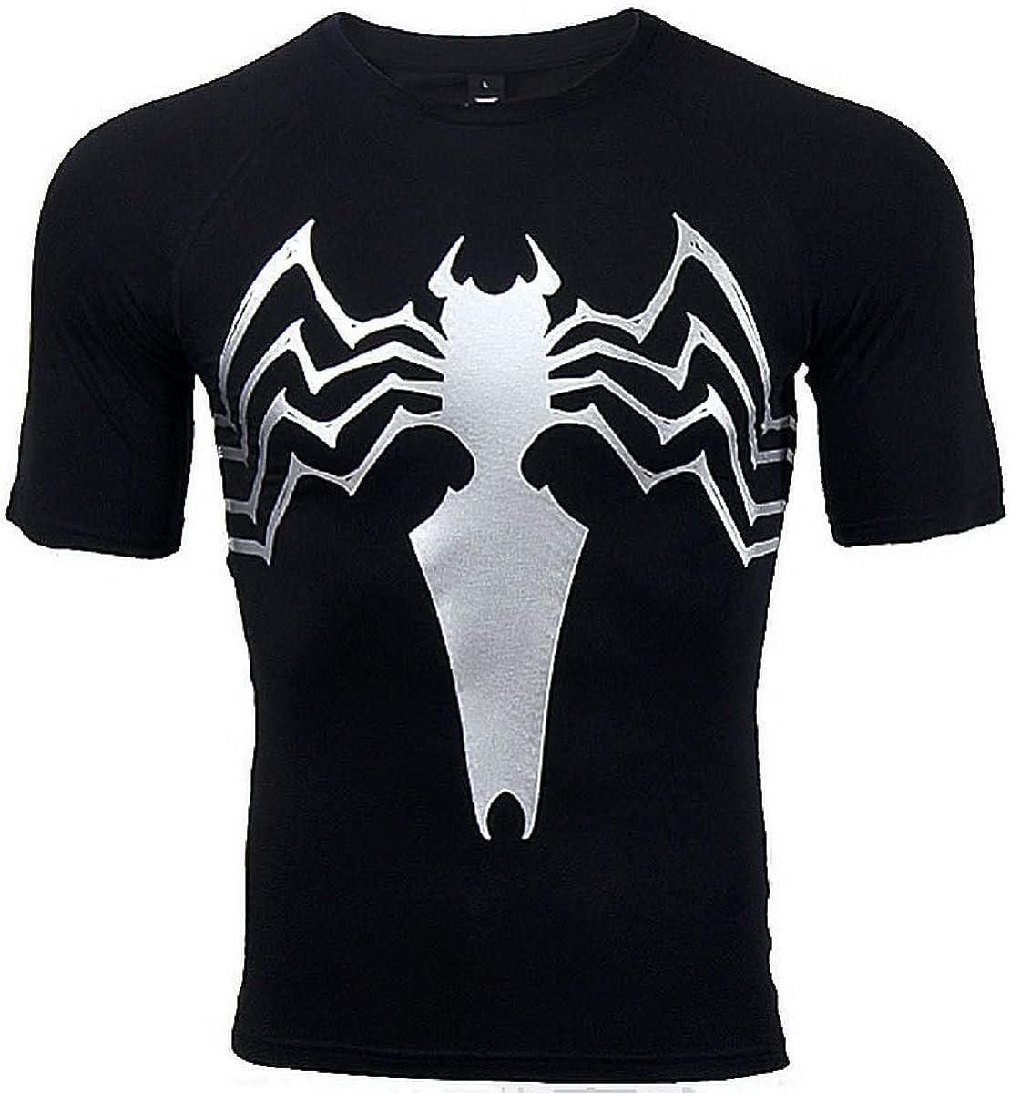 Raglan Short Sleeve 3D Printed T-Shirts Venom Men Compression Shirt Fitness for Male for Tops