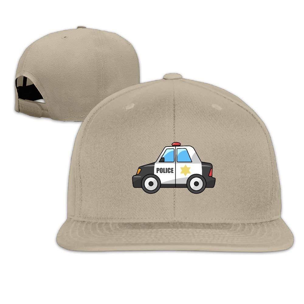 f15bcfa5830 Amazon.com  Police Car Snapback Unisex Adjustable Flat Bill Visor Baseball  Hat  Clothing