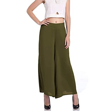 Pantalon Ete Femme Élégant Mousseline Tulle Pantalon Large Large Wide Leg  Pants Mode Fille Vêtements Couleur f2364b4a932d