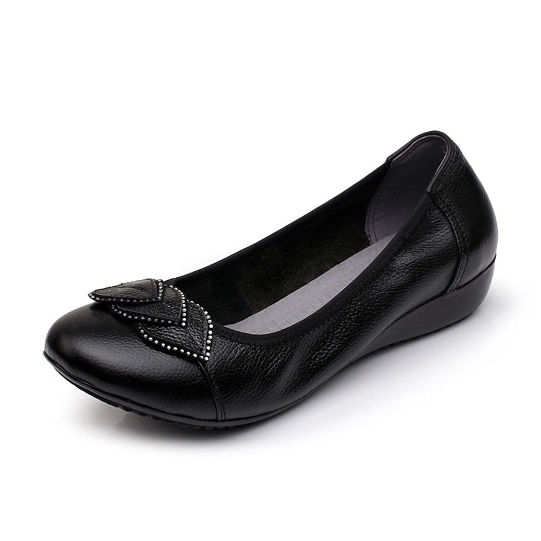 Ladies flat shoes/soft bottom mother shoes/Plus size casual women's shoes