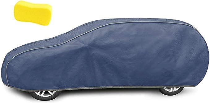 Zentimex Z3245585 Vollgarage 4 Lagig Membran Marineblau Atmungsaktiv Auto Plane Ganzjahresgarage Abdeckplane Schutzbezug Auto