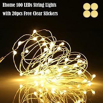 Amazon.com: LE 100 LED 33ft Copper Wire String Lights, Warm White ...