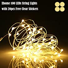 Ehome 100 LED 33ft/10m Starry Fairy String Light, Waterproof Decorative Copper Wire Lights for Indoor, Bedroom Festival Christmas Wedding Party Patio Window with USB Interface (Warm White)