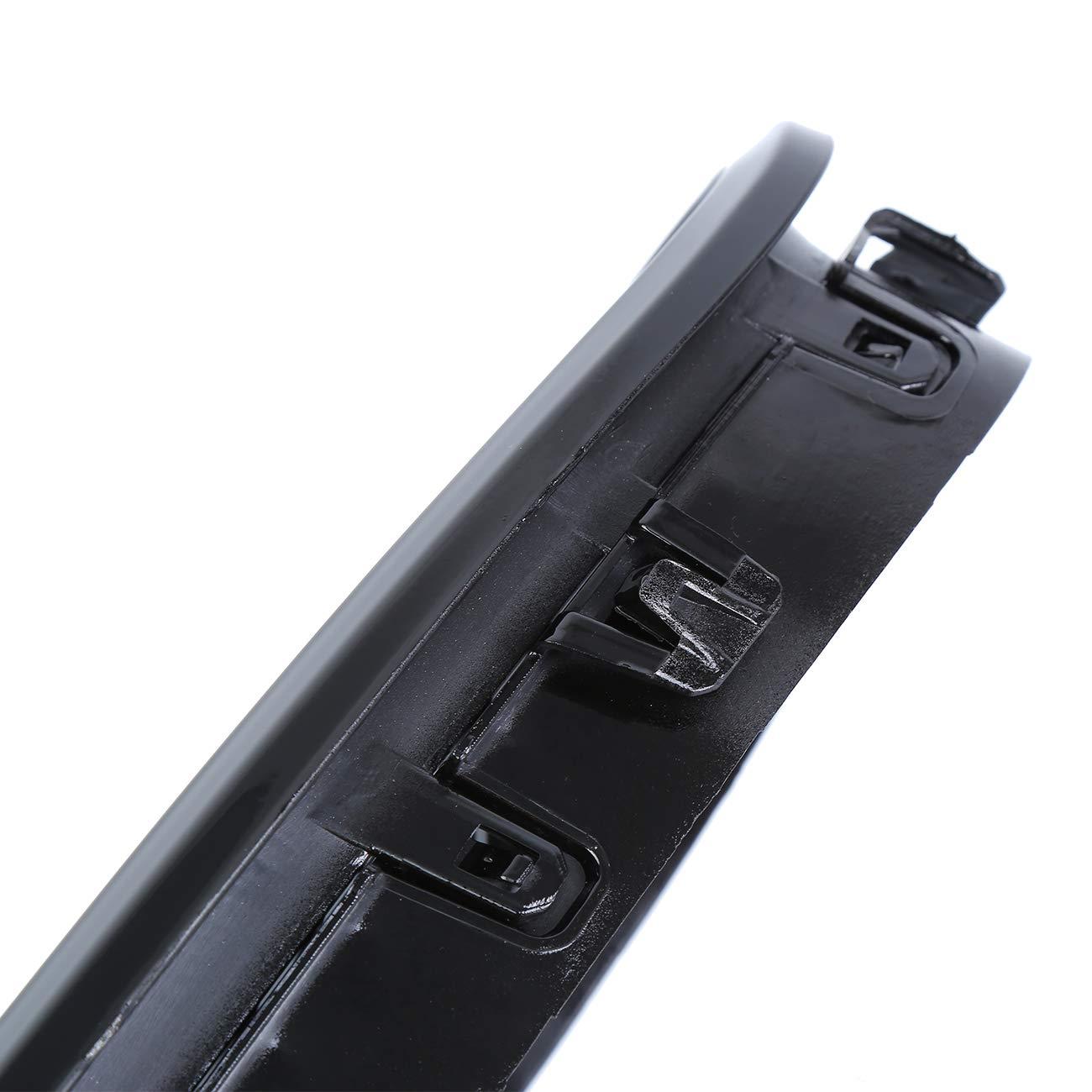 Honhill Parrilla delantera Negro brillante Linea dual Rejilla De Ri/ñon para Serie 5 F10 F11 F18 2010-2015