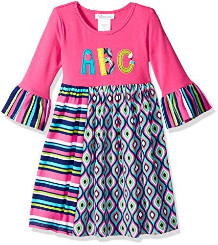 - Bonnie Jean Girls' Little Appliqued Dress, Fuchsia ABCs, 6X