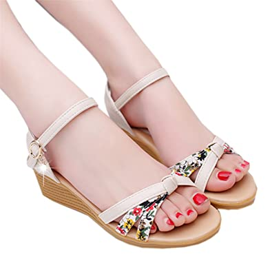 Low ShoesElaco Women's Summer Sandals Shoes Peep-toe Sandals Ladies Flip Flops