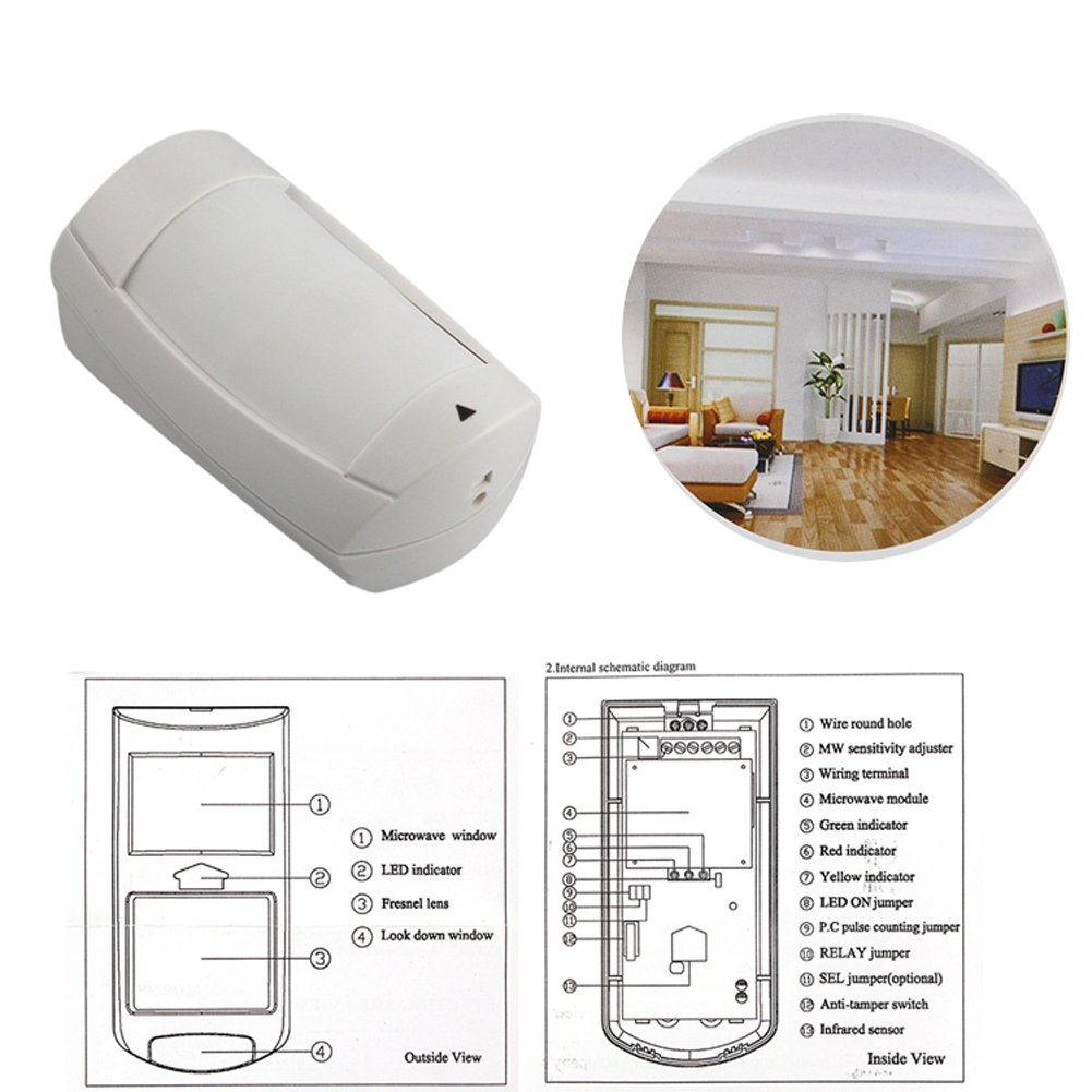Paradox Security Alarm System Dg75 Pir Detector With Double ...