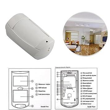 Paradox Security Alarm System Dg75 Pir Detector With Double Lens: Amazon.es: Electrónica