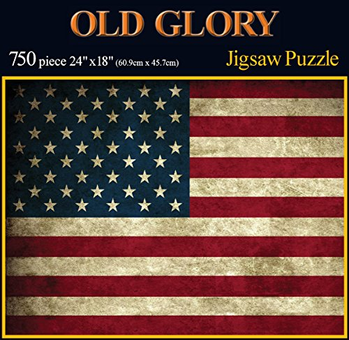 Americana Souvenirs and Gifts Old Glory Rustic Flag Puzzle
