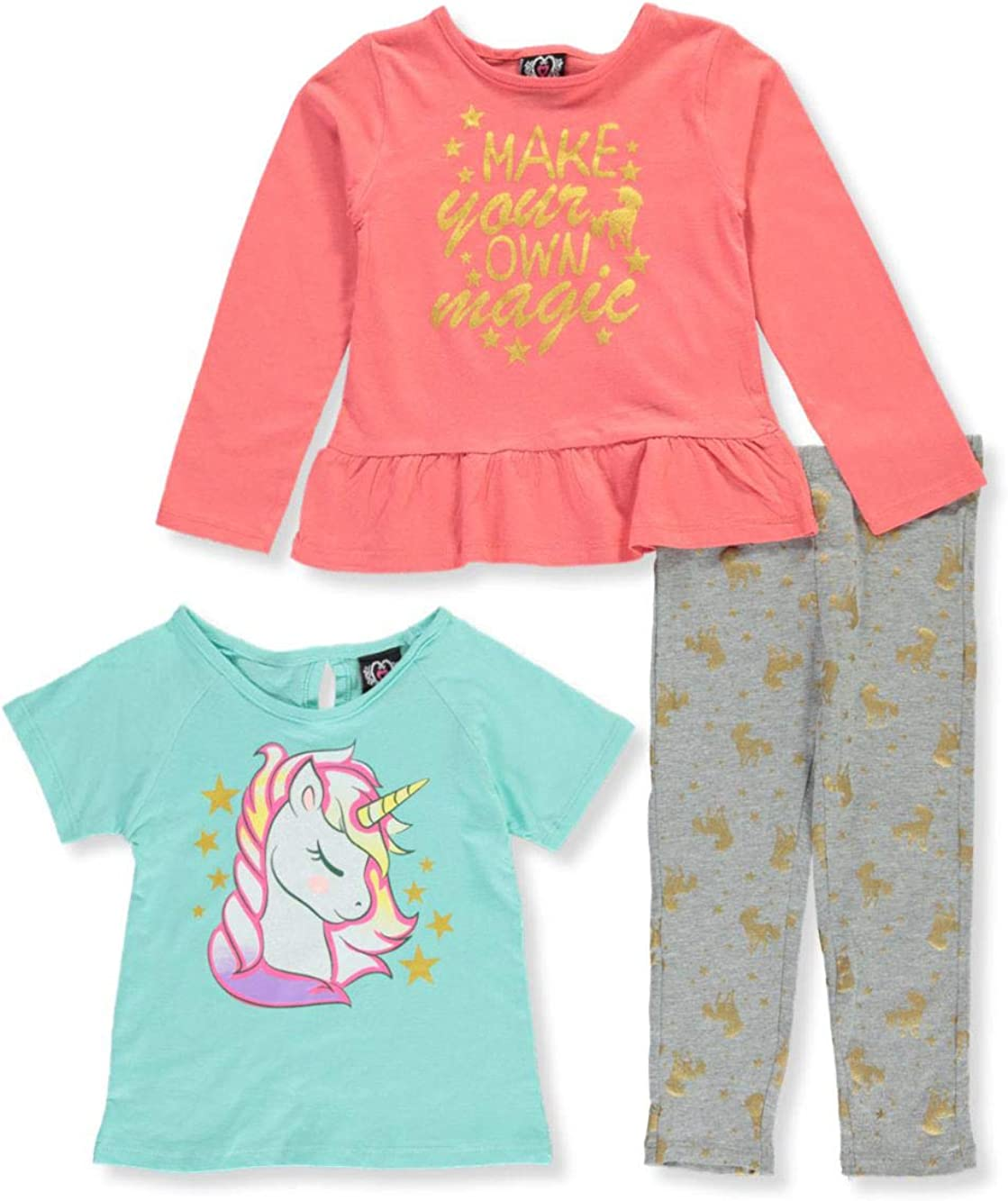 Real Love Girls Make Your Own Magic 3-Piece Leggings Set Outfit