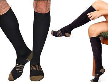 183aad3fdd8e00 Copper Compression Gear PREMIUM Knee High Socks - 100% GUARANTEED- #1 Copper  Recovery