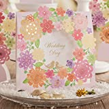 Wishmade Wedding Invitations Cards, Pink, 100 Pieces, CW6053, Customized Printing