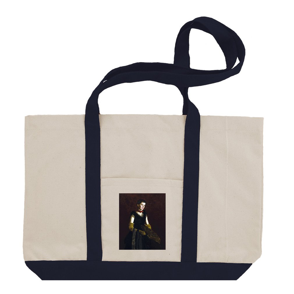 Letitia Wilson Jordan (Thomas Eakins) Cotton Canvas Boat Tote Bag - Navy