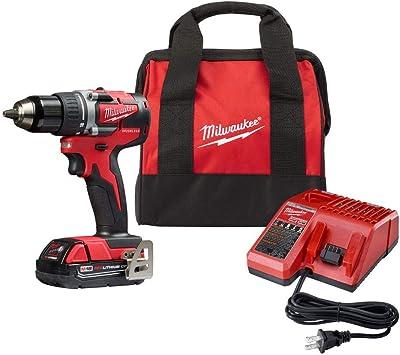 "Milwaukee 2801-20 M18 18V Li-Ion Brushless 1//2/"" Compact Drill//Driver Kit"
