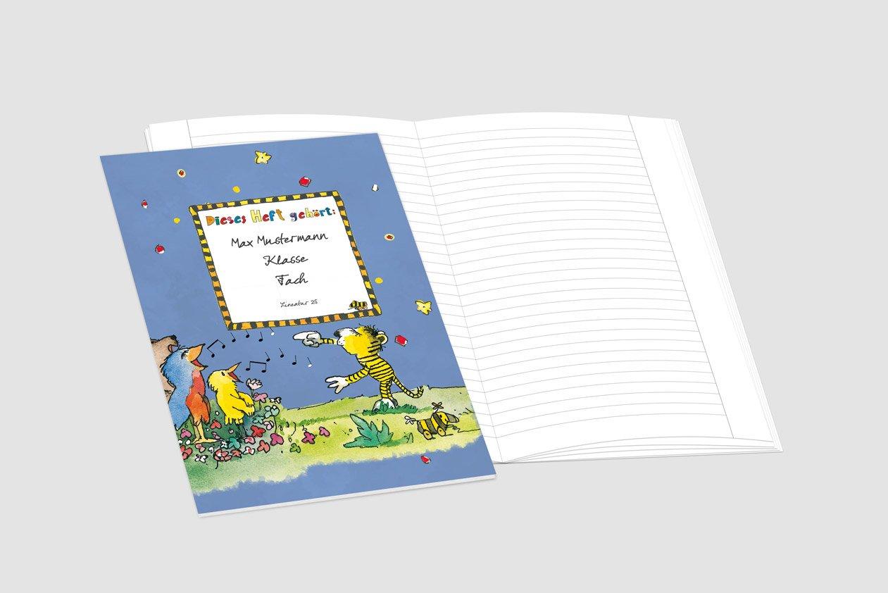 24 lustige JANOSCH-Schulhefte JANOSCH-Schulhefte JANOSCH-Schulhefte A4, »Fröhlicher Chor«,Lineatur 20, Pistaziengelb, personalisierbar, 32 Seiten B0784TCSL3 | Bekannt für seine hervorragende Qualität  d63f32