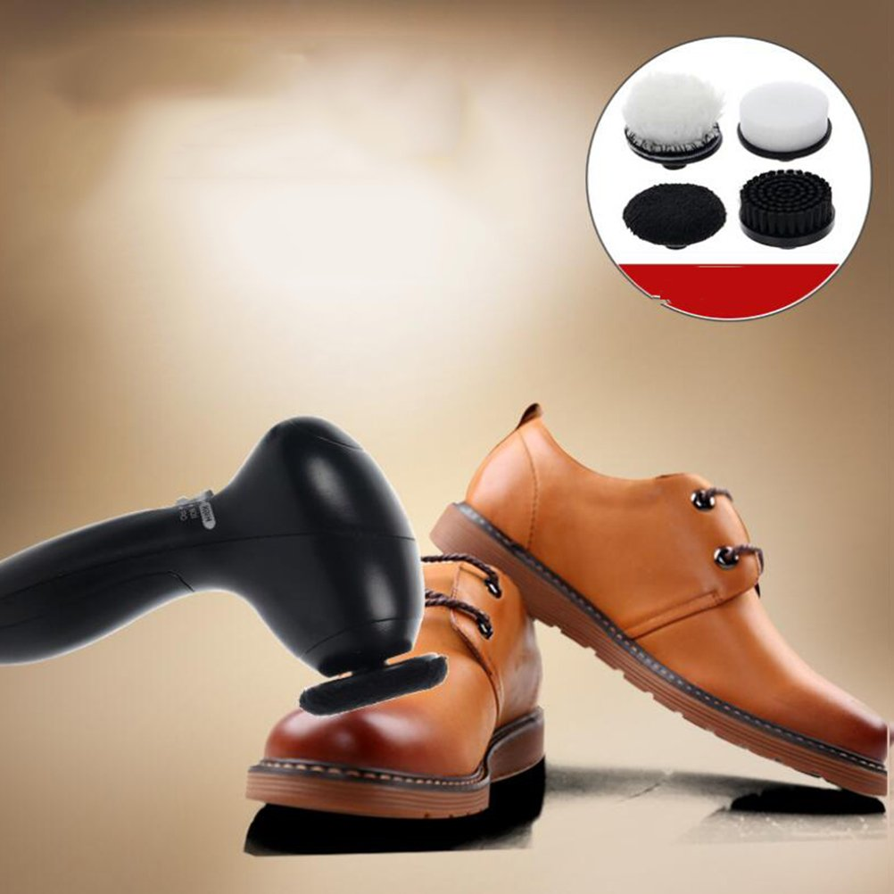 GSPOR Shoe Brushes Electric Shoe Polishers Shoe Shine Kit For Travel Home Shoe Care Brush
