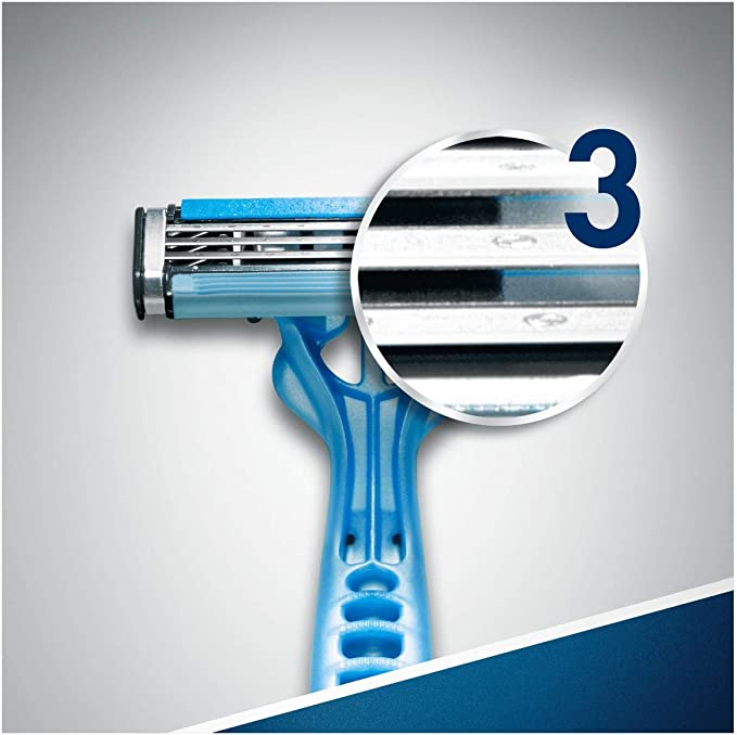 Gillette Blue3-12 cuchillas de afeitar desechables: Amazon.es ...