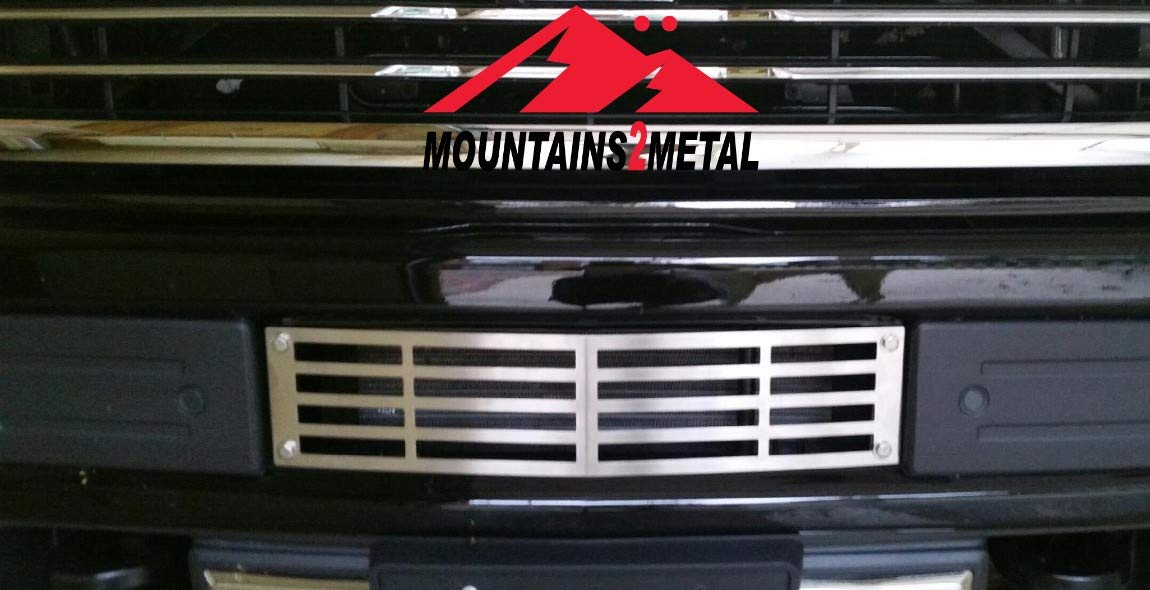 Mountains2Metal Plain Brushed Stainless Steel Grille Insert Compatible with 2015-2019 Chevy Silverado 2500 3500 HD M2M #400-10-3