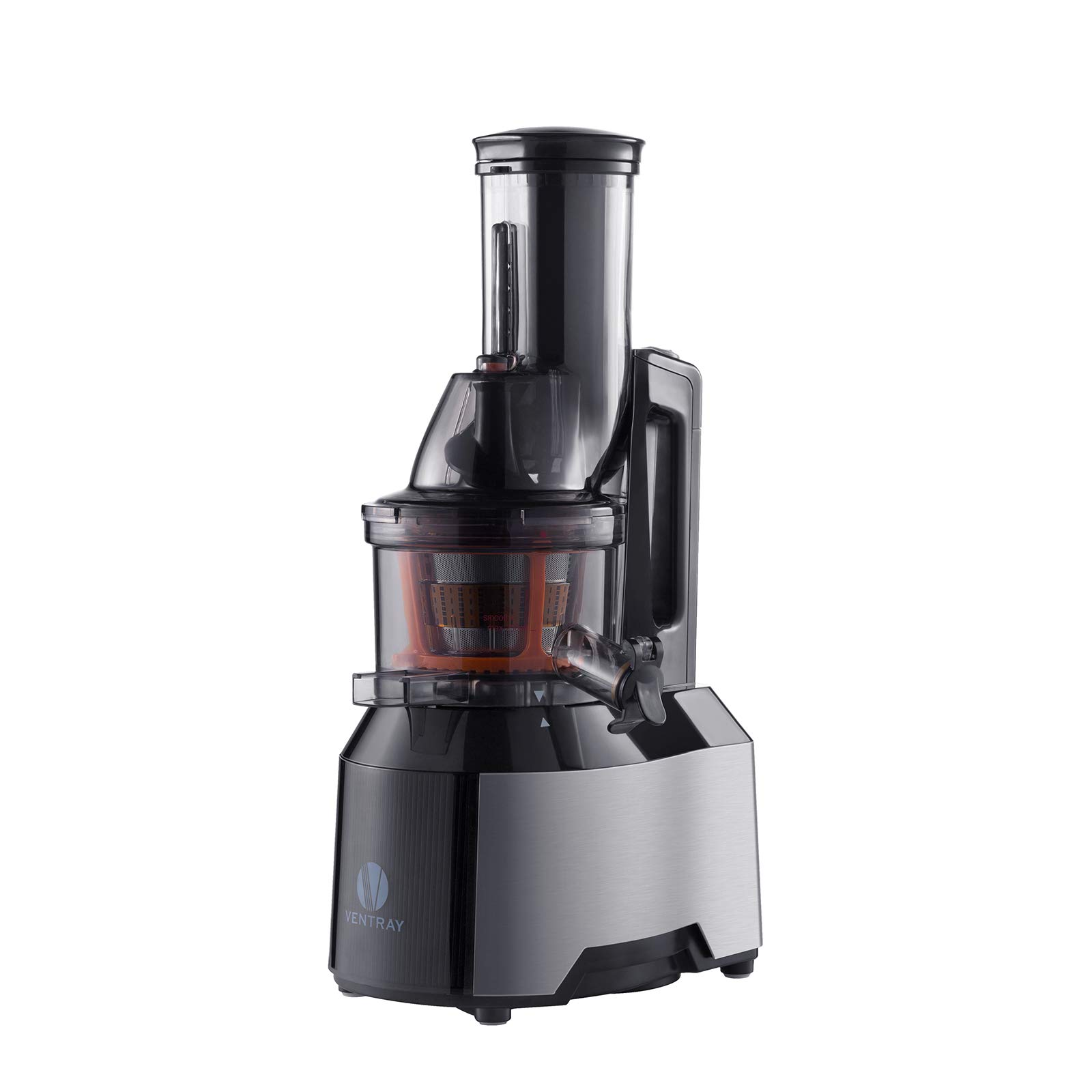 Ventray Masticating Juicer - Slow Juicer with Wide Chute Big Feeding Mouth - Cold Press Juice Maker - Black by Ventray