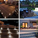 GHP 10-Pcs Cool White Waterproof Aluminum Body Acrylic Cover LED Deck Lamp Lights