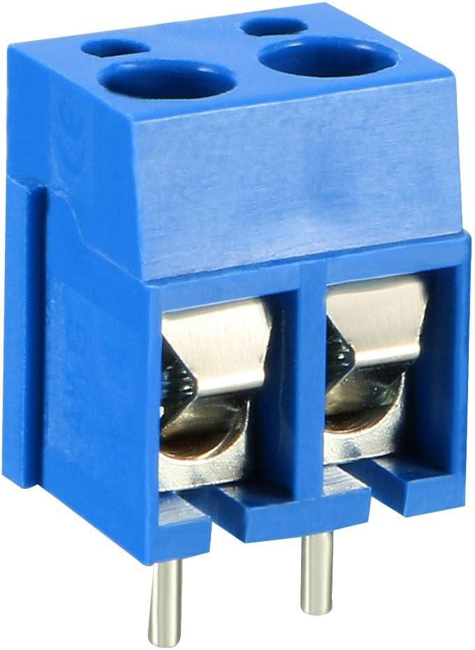 Sourcingmap Lot de 5 connecteurs /à Embout Plat pour Bloc PCB AC 300 V 10 A 5 mm
