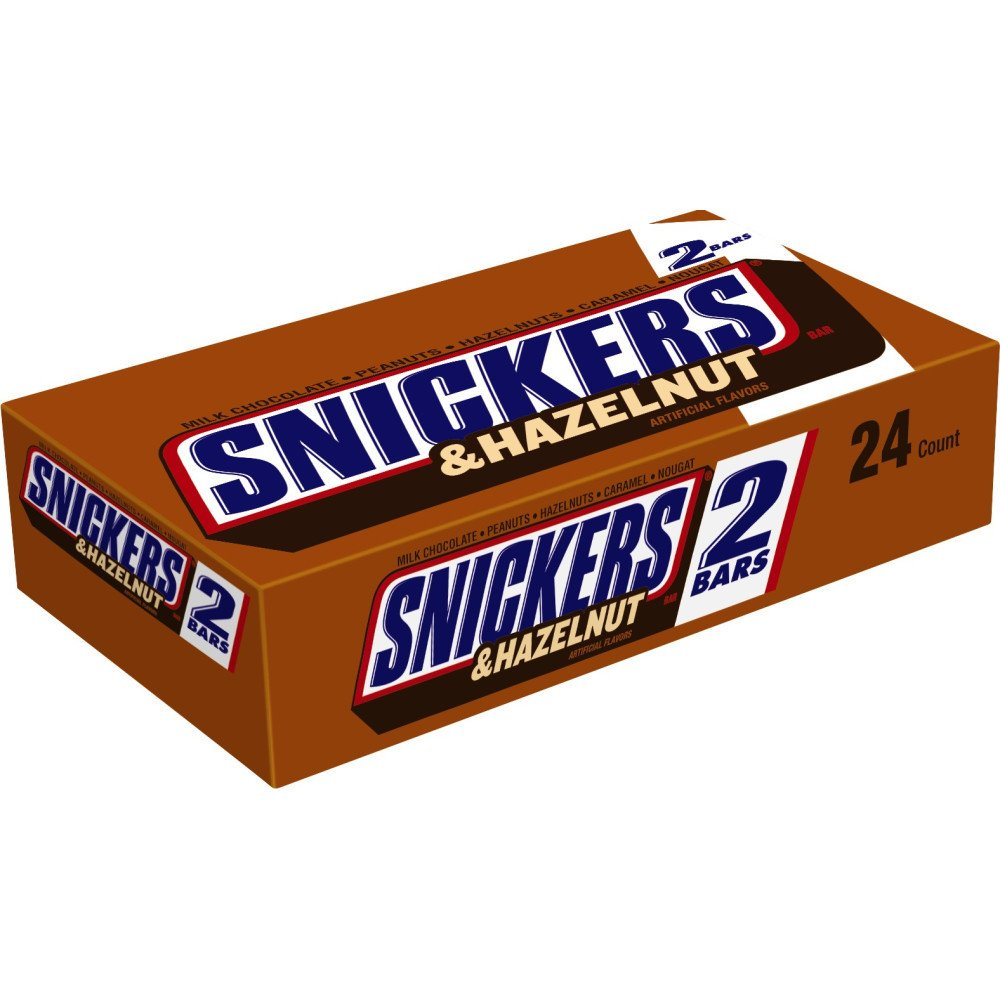 Amazon.com : SNICKERS Hazelnut Sharing Size Chocolate Candy Bars ...
