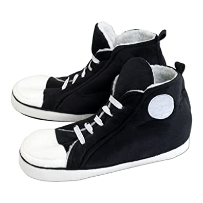 3c300635ad Bits and Pieces - Hi-Top Sneaker Slippers - Retro Comfy Warm - Plush  Interior