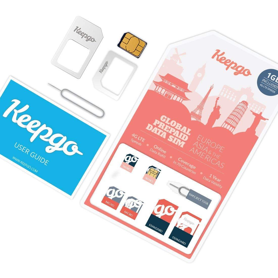 Keepgo - Tarjeta SIM Internacional 4G LTE - Europa: Amazon ...