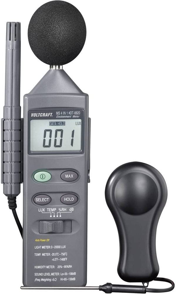 Voltcraft DT 8820 Multifunctional Environment Measuring Instrument 4 in 1