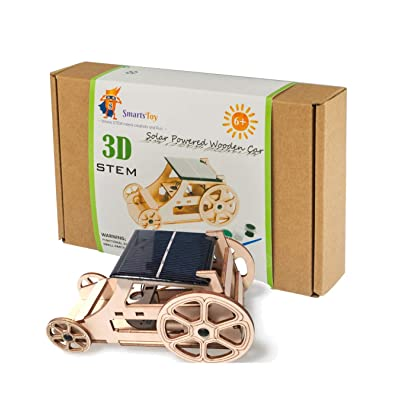 Wooden Solar Car Model Kits to Build - DIY Educational STEM Learning Science Kits for Kids Age 8-12. Building Toys- Creative Robotics Building STEM Kit for Boys and Girls, Teens and Adults with: Toys & Games