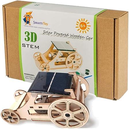 Smartstoy Wooden Model Solar Car Kit to Build