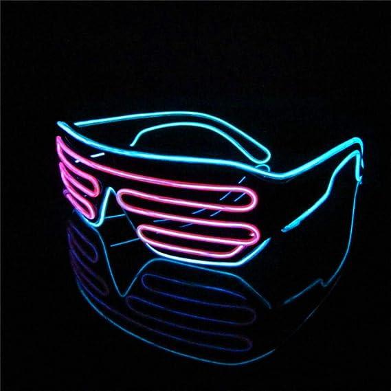 Gafas con luces controlables para concierto o festival - Gafas con luces de neon para fiestas.