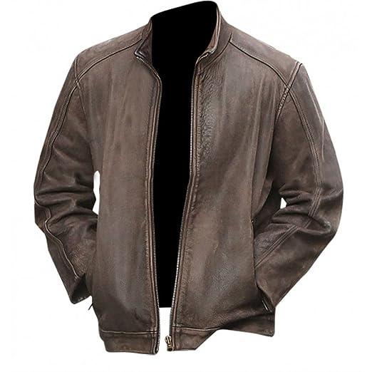 Iii Fashions Matt Damon Jason Bourne Brown Leather Jacket At Amazon