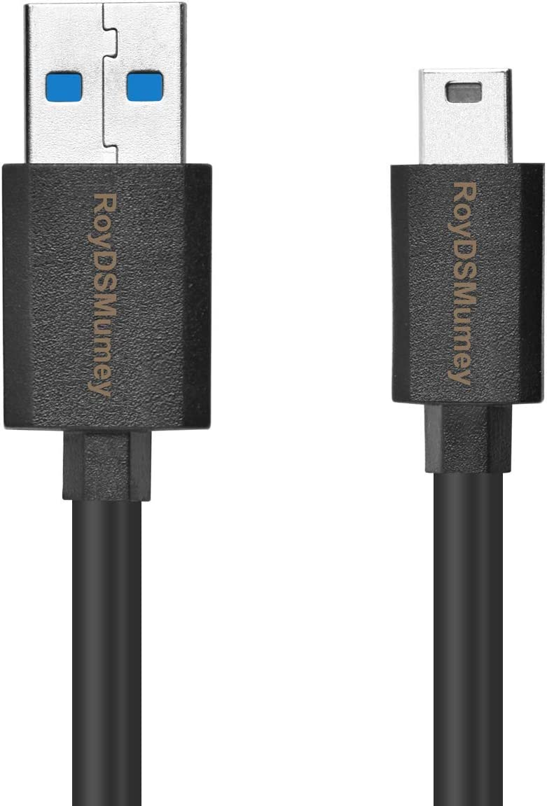 Black RoyDSMumey Replacement USB Cable Mini-USB 5-Pin USB Cable for Canon EOS Rebel Digital SLR Camera and Canon EOS Digital SLR Camera//Sony//Nikon UC-E4 Replacement Digital Camera DSLR
