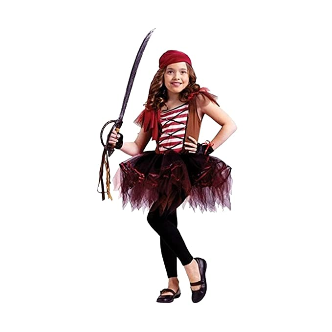abb2f5b25239 Amazon.com  Fun World Girls Pirate Ballerina Tutu Dress Halloween ...