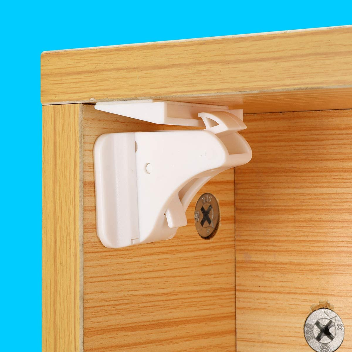Generic 12 in 1 Magnetic Child Lock Baby Safety Lock Baby Protection Cabinet Door Lock Kids Drawer Locker