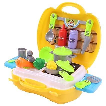 Zhijie-toy Kit da Cucina per Bambini, Set da Cucina per Bambini ...
