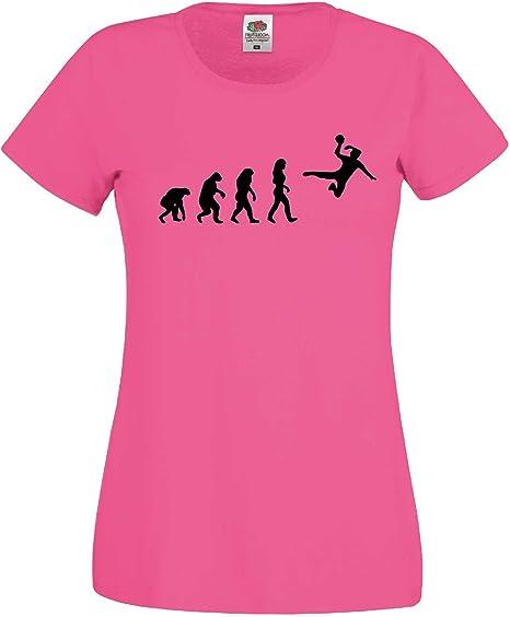 world-of-shirt / Handball Balonmano Mujer Evolution – Camiseta WM Camiseta EM Girlie Camiseta, Todo el año, Hombre, Color Rosa, tamaño Extra-Large: Amazon.es: Deportes y aire libre