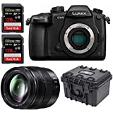 Panasonic GH5 Lumix 4K Mirrorless , 20.3 MP, Wi-Fi + BT,3.2 w/ H-HSA12035 12-35MM, DUAL I.S. 2.0 Lens 256GB Bundle
