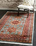 Unique Loom Sahand Collection Traditional Geometric Classic Light Blue Area Rug (3' x 5')