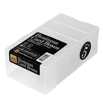 Westonboxes Visitenkartenbox Aus Kunststoff 35 Mm Tief