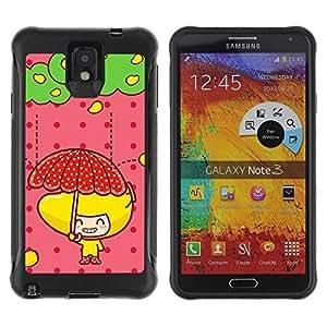 LASTONE PHONE CASE / Suave Silicona Caso Carcasa de Caucho Funda para Samsung Note 3 / Cute Fruit Girl